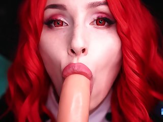 Riding Dildo Cosplay Girl Mykinkydope