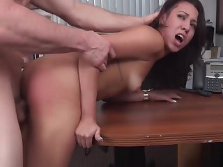 Sausage for a dirty brunette sweetheart Sophia Torres