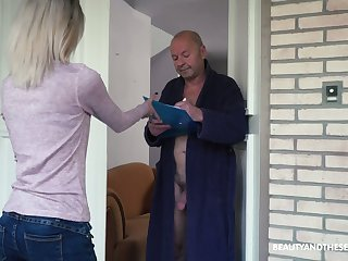Additionally naughty light haired Hungarian girl Missy Luv rides unafraid cock of grey man