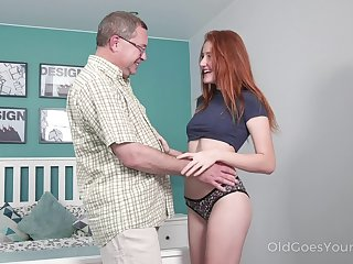 Old step uncle enjoys fucking well done red haired niece Foxy Lee
