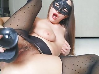 RIPPED PANTYHOSE RIPPED CREAM PUSSY Coupled with BIG GAPING PUSSY