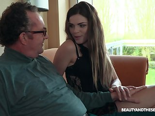 Old vs Young porn movie with small heart of hearts chick Sarah Smith. HD